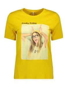 Only T-shirt ONLWEEKDAY REG S/S PHOTO TOP BOX CO 15188444 Sulphur/FRI.