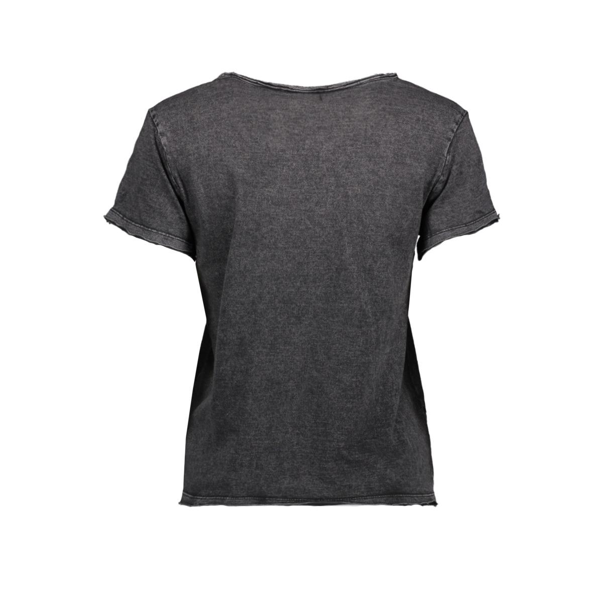 nmnaya nate  s/s washed top noos 27008771 noisy may t-shirt black/washed