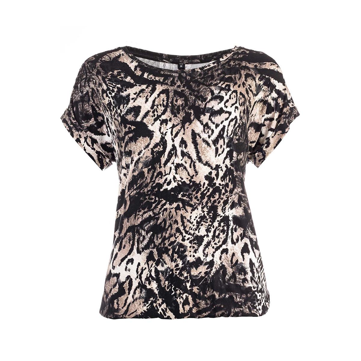 brisia ss brown tiger ned t-shirt 603 brown