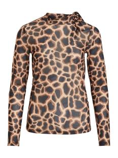 objsolange l/s top 104 23030078 object t-shirt black/aop