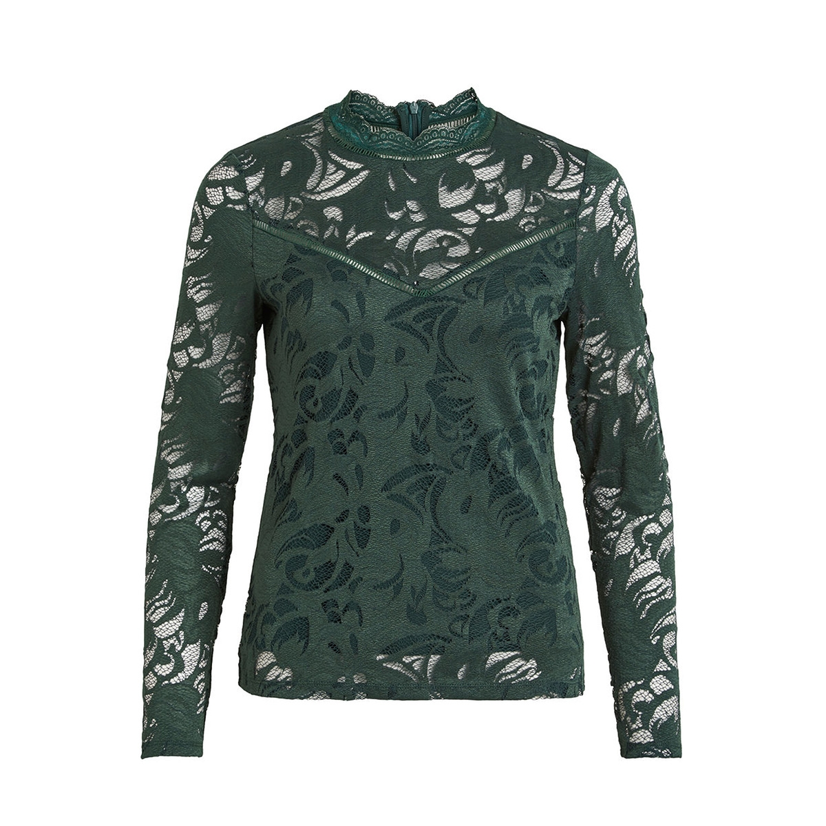 vistasia l/s lace top-noos 14041864 vila t-shirt pine grove