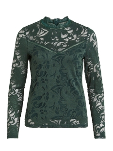 Vila T-shirt VISTASIA L/S LACE TOP-NOOS 14041864 Pine Grove