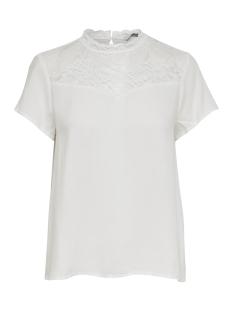 Only T-shirt ONLFIRST SS LACE TOP NOOS WVN 15191412 Cloud Dancer