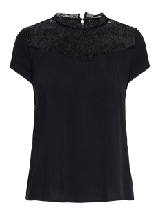 Only T-shirt ONLFIRST SS LACE TOP NOOS WVN 15191412 black