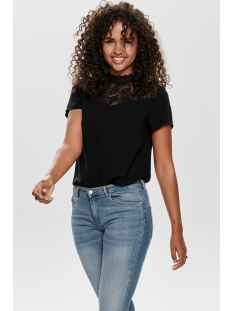 onlfirst ss lace top noos wvn 15191412 only t-shirt black