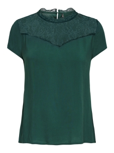 Only T-shirt ONLFIRST SS LACE TOP NOOS WVN 15191412 Green Gables