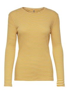 Only T-shirt ONLTINA L/S TOP JRS 15174017 Mango Mojito/CLOUD DANCER