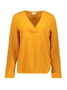 vilaia l/s v-neck top - fav 14053372 vila blouse golden oak