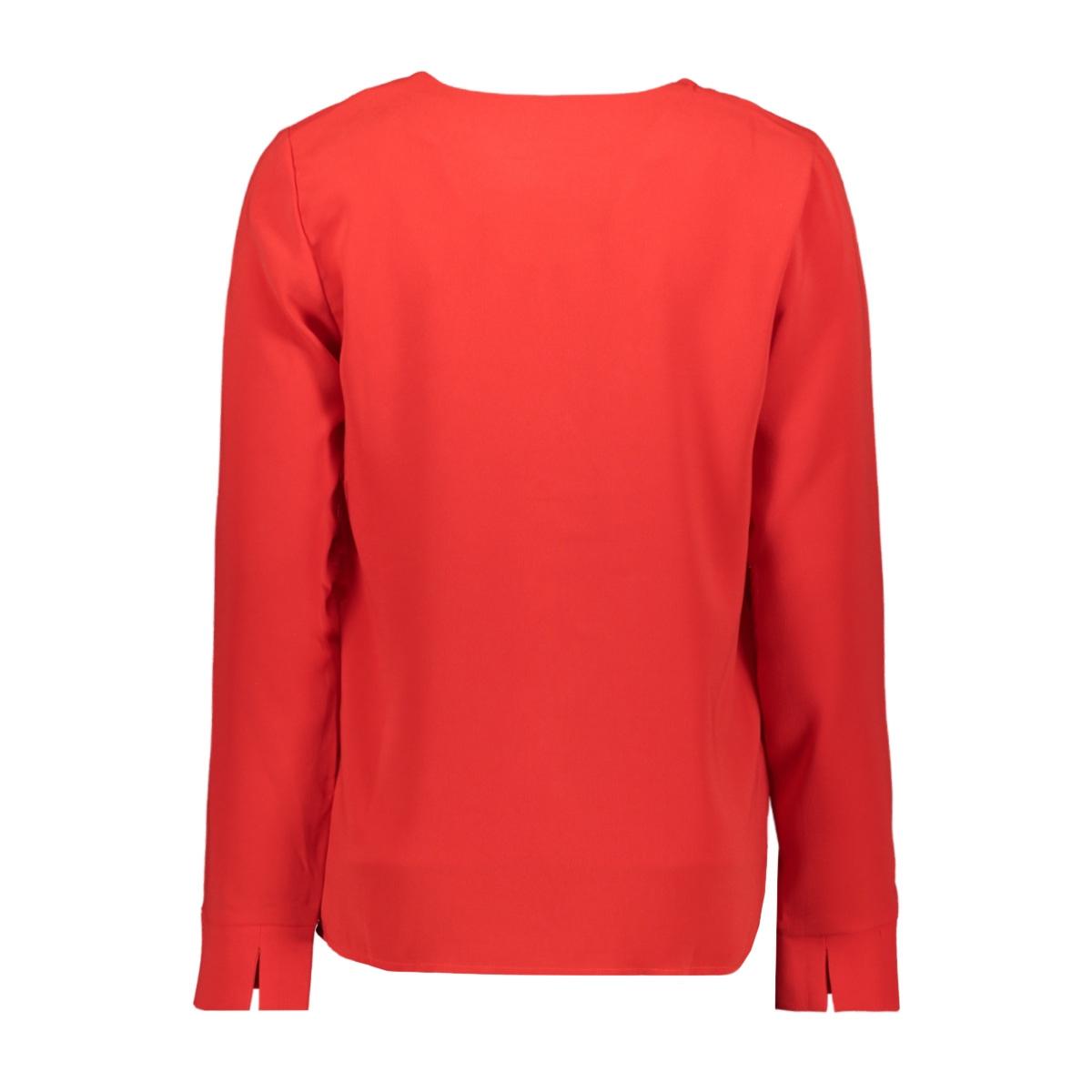 vilaia l/s v-neck top - noos 14053269 vila blouse racing red