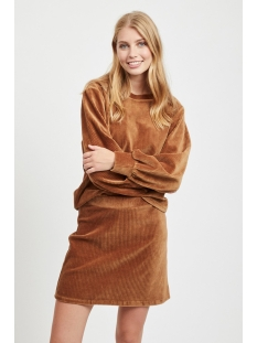 vikita l/s top 14054656 vila sweater toffee