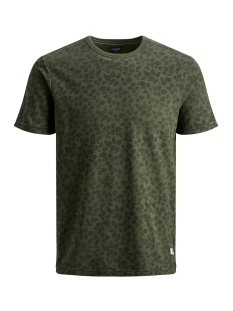 Jack & Jones T-shirt JPRKENTON BLU. TEE SS CREW NECK 12157967 Olive Night/SLIM FIT