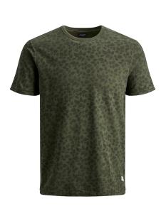 jprkenton blu. tee ss crew neck 12157967 jack & jones t-shirt olive night/slim fit