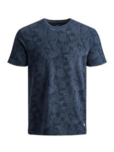 jprkenton blu. tee ss crew neck 12157967 jack & jones t-shirt mood indigo/slim fit