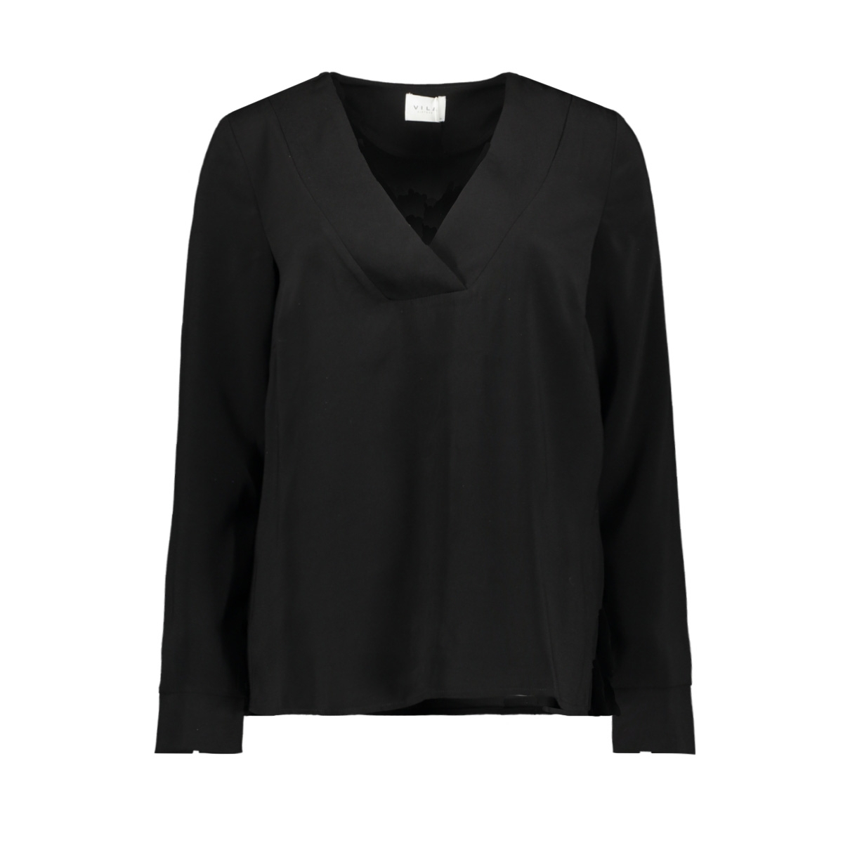 vilaia l/s v-neck top - noos 14053269 vila blouse black