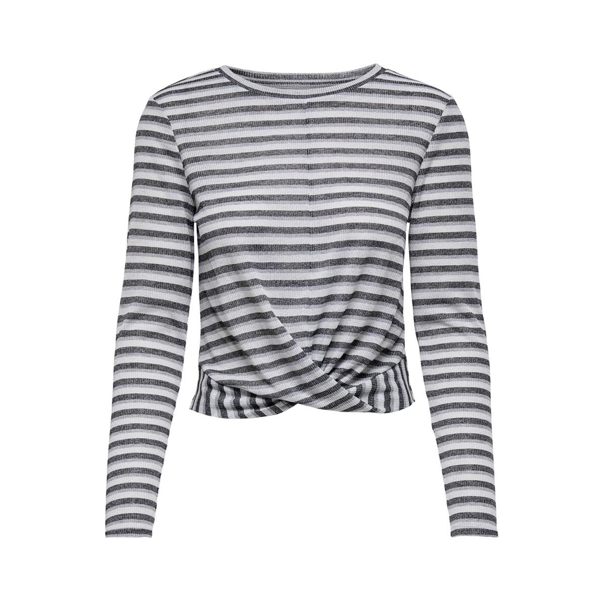jdycille l/s top jrs 15184117 jacqueline de yong t-shirt cloud dancer/black and