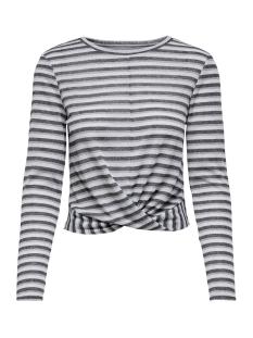 Jacqueline de Yong T-shirt JDYCILLE L/S TOP JRS 15184117 Cloud Dancer/BLACK AND