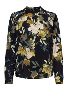 Only Blouse ONLNEW MALLORY  AOP L/S BLOUSE WVN 15154629 Black/FAYE FLOWE