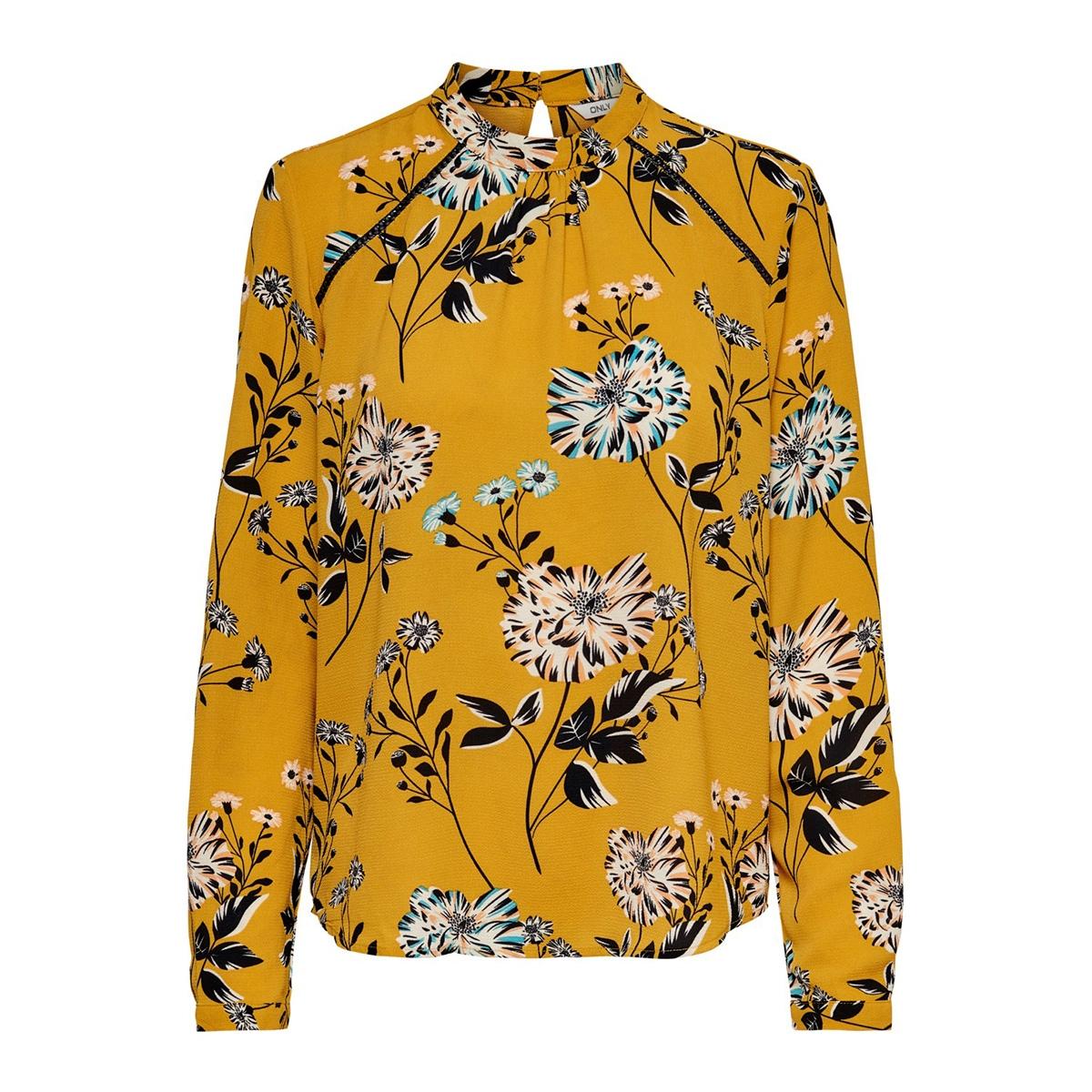 onlnew mallory  aop l/s blouse wvn 15154629 only blouse chai tea/ chai tea f