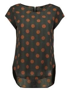 Only T-shirt ONLVIC SS AOP TOP NOOS WVN 15161116 Dark Green/DALLAS DOT