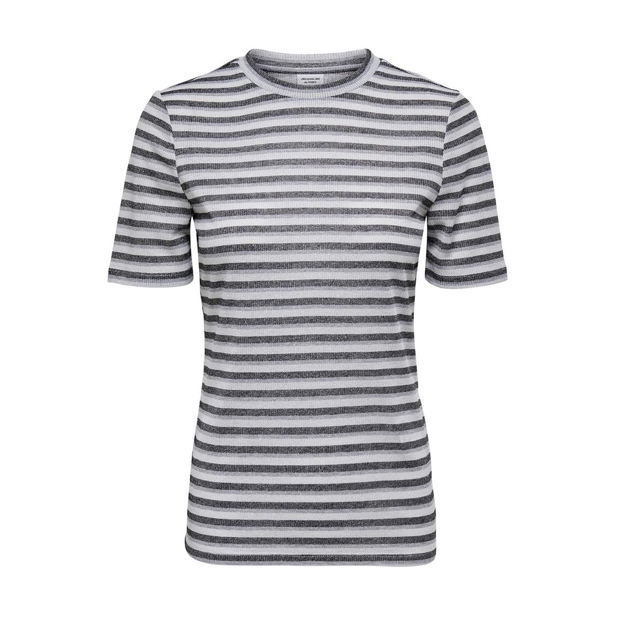 jdycille s/s top jrs 15184118 jacqueline de yong t-shirt cloud dancer/black and