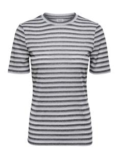 Jacqueline de Yong T-shirt JDYCILLE S/S TOP JRS 15184118 Cloud Dancer/BLACK AND