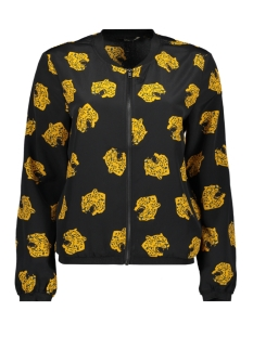 Only Jas ONLVICTORIA LS BOMBER WVN 15194580 Black/YELLOW TIGER