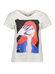 Jacqueline de Yong T-shirt JDYGOSSIP S/S  PRINT TOP JRS 15184334 Cloud Dancer/RETRO ZWART