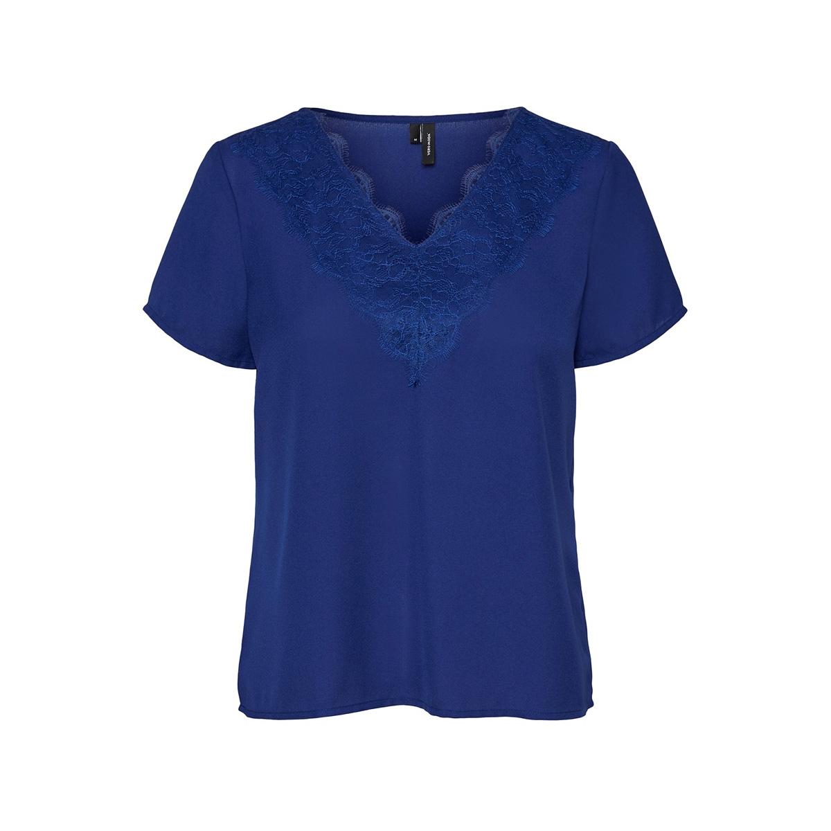 vmtinsley s/s lace top vip 10226121 vero moda t-shirt sodalite blue