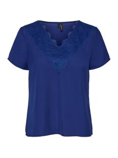 Vero Moda T-shirt VMTINSLEY S/S LACE TOP VIP 10226121 Sodalite Blue