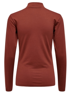 jdyava l/s turtleneck top jrs noos 15165633 jacqueline de yong t-shirt russet brown