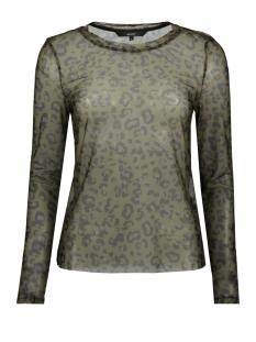 vmmaya mesh l/s top vo 10218905 vero moda t-shirt ivy green/ annie