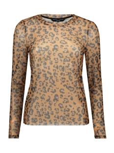 Vero Moda T-shirt VMMAYA MESH L/S TOP VO 10218905 Tobacco Brown/ ANNIE