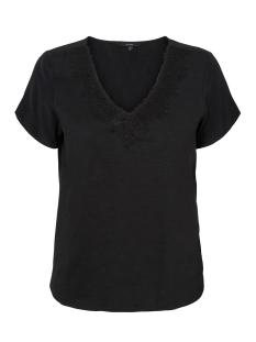 Vero Moda T-shirt VMVELMA S/S WOVEN MIX TOP SB5 10221449 Black