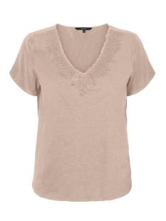vmvelma s/s woven mix top sb5 10221449 vero moda t-shirt rose dust