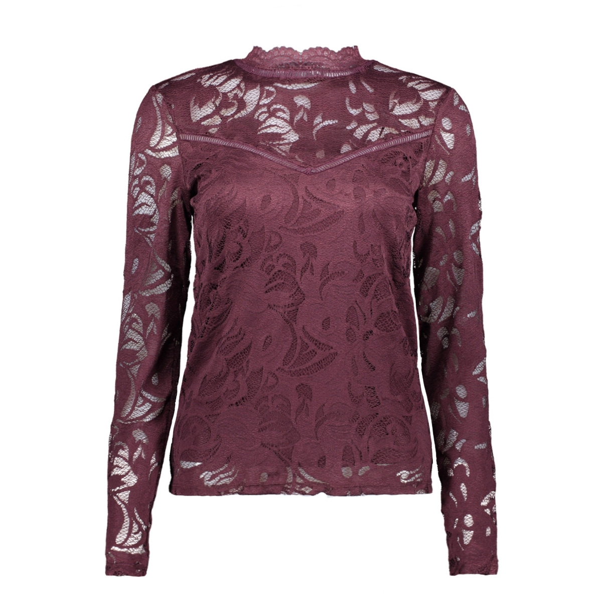 vistasia l/s lace top-fav 14044847 vila blouse winetasting