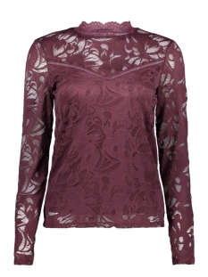 Vila Blouse VISTASIA L/S LACE TOP-FAV 14044847 Winetasting