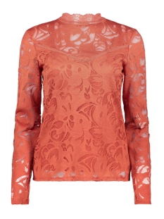 vistasia l/s lace top-fav 14044847 vila blouse ketchup