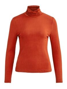 Vila T-shirt VIBENJA L/S ROLLNECK T-SHIRT 14053993 Ketchup