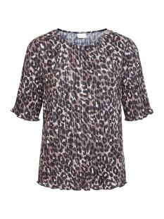 vibloomia leo print top/nly 14056306 vila t-shirt puce/black leopard