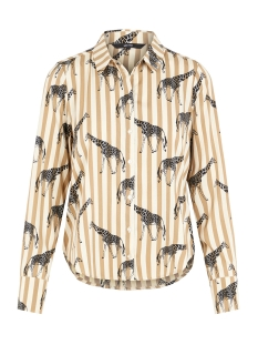 Vero Moda Blouse VMNICKY L/S SHIRT D2-1 10193878 Travertine/GIRAFFES