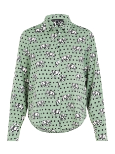 Vero Moda Blouse VMNICKY L/S SHIRT D2-1 10193878 Laurel Wreath/ELEPHANTS