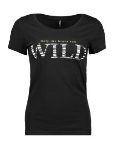 onlroar s/s top jrs 15184236 only t-shirt black/wild neon