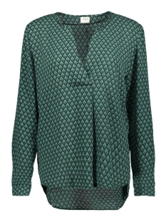 Jacqueline de Yong Blouse JDYZOEY TREATS L/S V-NECK BLOUSE WV 15181124 Bottle Green/GREEN GRAP