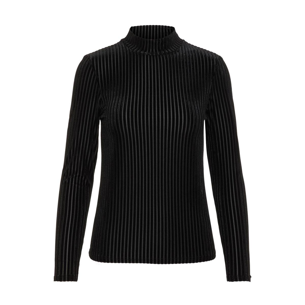 nmkenya l/s top noos 27008766 noisy may t-shirt black
