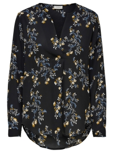 Jacqueline de Yong Blouse JDYZOEY TREATS L/S V-NECK BLOUSE WV 15181124 Black/FALL FLOWER