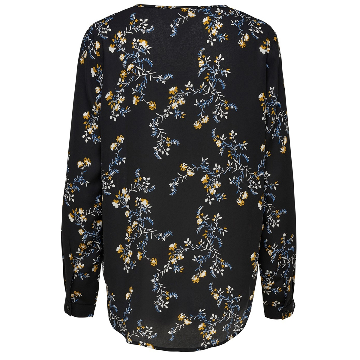 jdyzoey treats l/s v-neck blouse wv 15181124 jacqueline de yong blouse black/fall flower