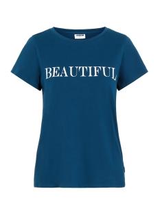 Noisy may T-shirt NMNATE UNIS SS TOP BG 27008047 Gibraltar Sea/BEAUTIFUL