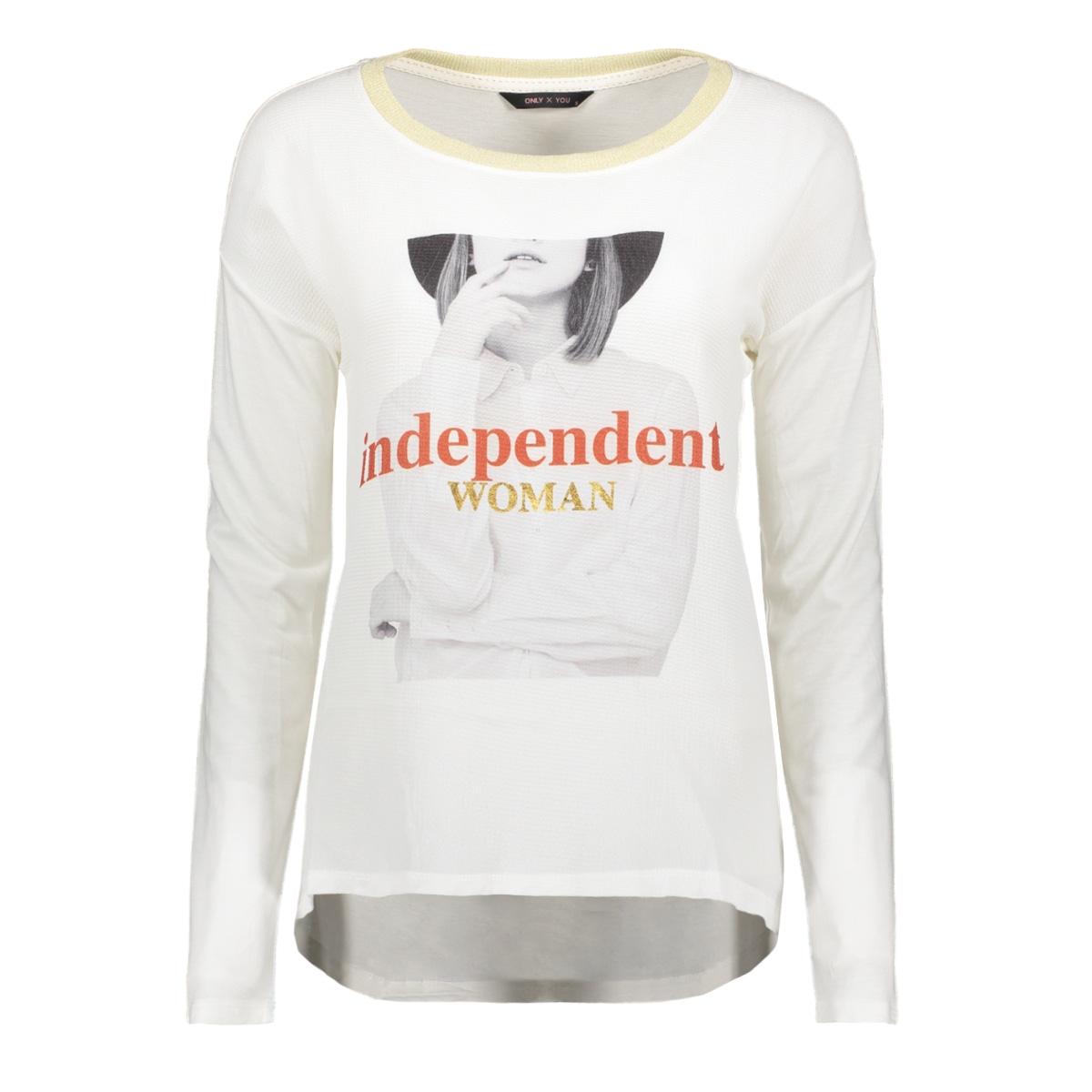 onyronja l/s top box jrs 15185612 only t-shirt cloud dancer