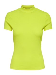 Only T-shirt ONLNITTA S/S MOCK NECK TOP CS JRS 15194032 Neon Yellow