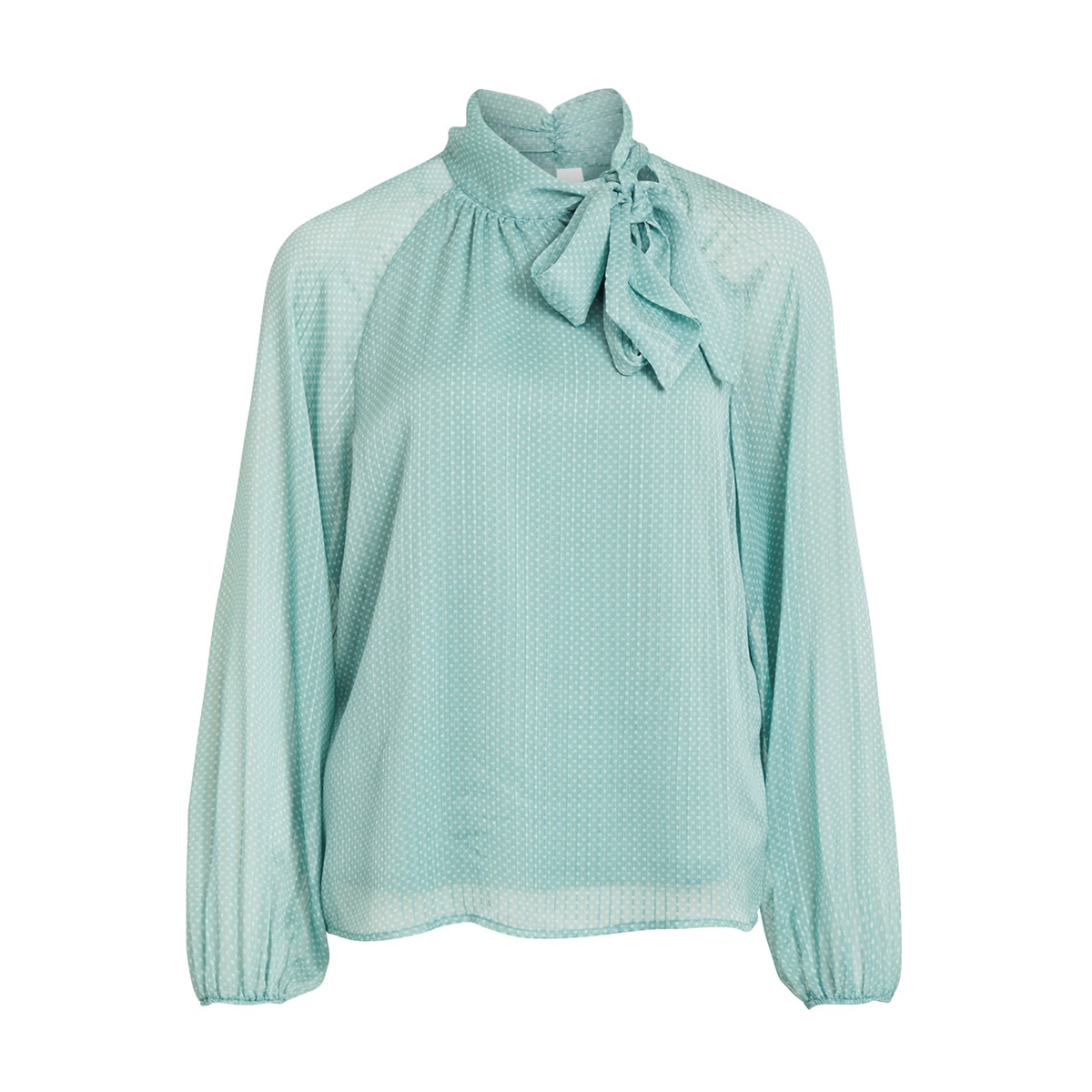 vipallea l/s top/des 14053990 vila blouse oil blue/w. whisper